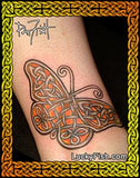 Knotwork Monarch Celtic Art Tattoo Design