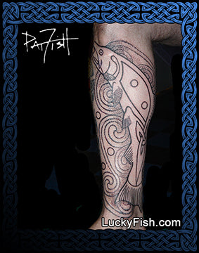 Salmon of Knowledge Celtic Fish Tattoo Design