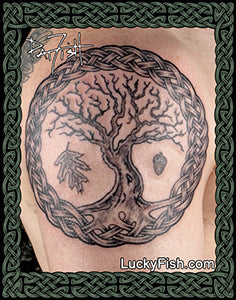 Black Oak of Life Celtic Tattoo Design
