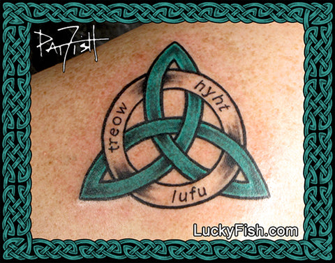 Triplicate Significance Celtic Tattoo Design