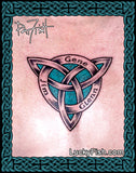 Triplicate Significance Memorial Celtic Tattoo Design