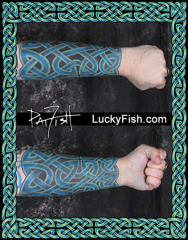 Knotwork Forearm Celtic Tattoo Design