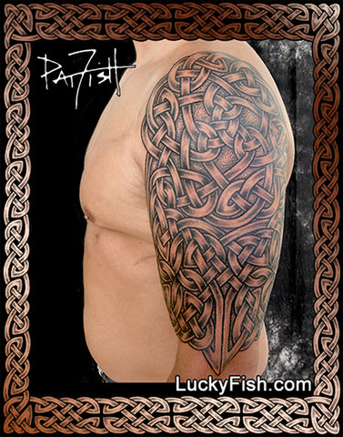 8f897cbfb Celtic Knot Tattoos – LuckyFish Art