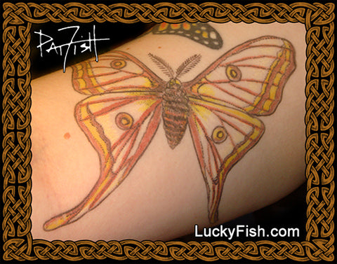 Spanish Luna Moth Tattoo Design