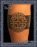 celtic knot tattoo leg band