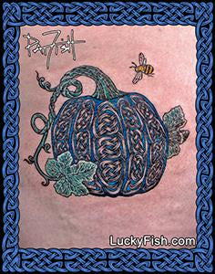 Unique Celtic Pumpkin Tattoo Design