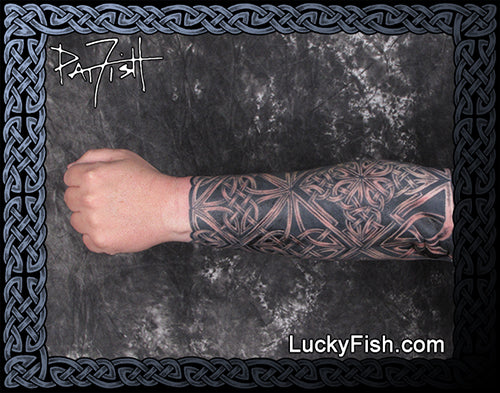 Celtic Hero Forearm Sleeve Tattoo Design