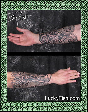 Canine Bracer Celtic Dog Sleeve Tattoo