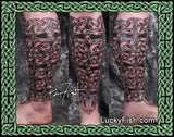 Celtic Shin Guard Tattoo Design
