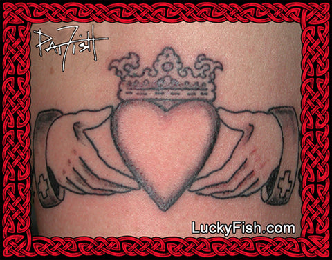 Claddagh Band Celtic Tattoo Design