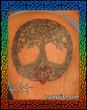 Mother's Heart Celtic Tree of Life Tattoo Design
