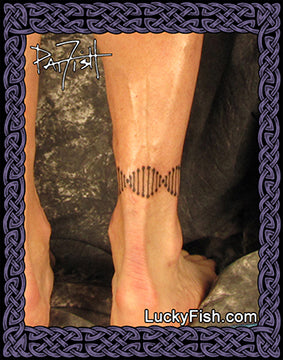 DNA Band anklet tattoo design