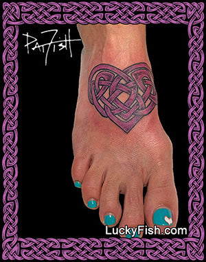 Knotty Heart Celtic tattoo design