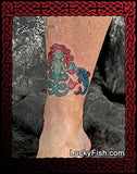 meigle mermaid and fish pictish tattoo design