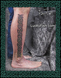 Celtic Band of Brothers Leg Tattoo Design