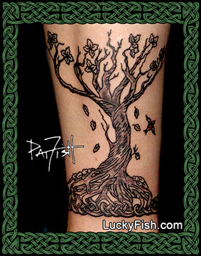 Oracle Tree Band Celtic Tattoo Design