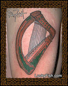 Brian Boru's Harp Celtic Tattoo Design