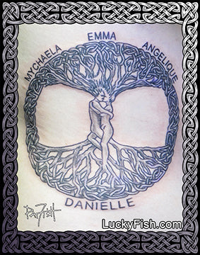 Tree People Celtic Tattoo Design