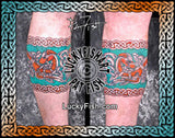 Warrior Braid Celtic Band Border Tattoo Design