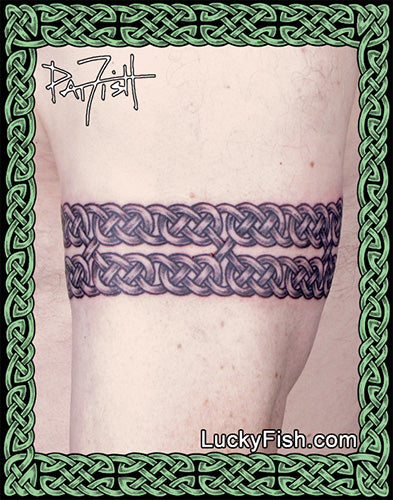 Double Diamond Knot Anklet Celtic Tattoo Design