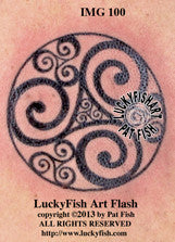 Triplicate Goddess Celtic Tattoo Design 3