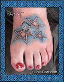 Twinkle Celtic Star Tattoo Design 2