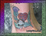 Scottish Heart Thistle Celtic Tattoo Design 2