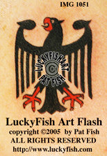 Germanic Eagle Tattoo Design 1