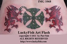Welsh Heritage Celtic Tattoo Design 1