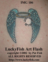 Angel Wings Classic Tattoo Design 1