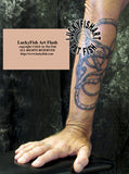 Uppland Serpent Viking Tattoo Design 2
