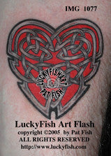 Heart's Ease Celtic Tattoo Design 1