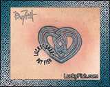 Celtic Lady Heart Tattoo Design