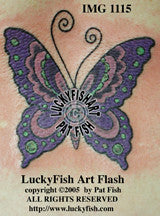 Mystic Flight Butterfly Tattoo Design 1