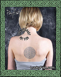 Geometry Flower of Life Sacred Tattoo Design