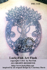 Tree Spirits Celtic Tattoo Design 1