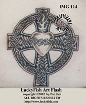 Sacred Heart Cross Celtic Tattoo Design 1