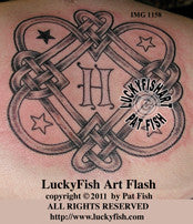 Family Heart Knot Celtic Tattoo Design 1