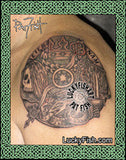 St Stephen's Cathedral Clock Tattoo Design 2
