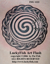 Spiral Strength Celtic Tattoo Design