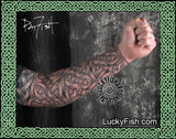 Long Body Armor Celtic Sleeve Tattoo Design