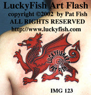 Welsh National Dragon Tattoo Design 1