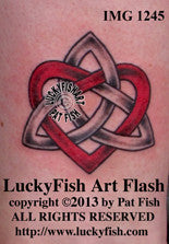 Faithful Heart Celtic Tattoo Design