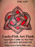 Faithful Heart Lovely Celtic Tattoo Design