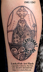Saint Brendan Tattoo Design 1