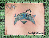 Pictish Ancient V-Rod Crescent Tattoo Design