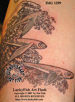 Flying Fish Tattoo Design