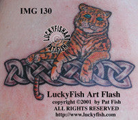 Tiger Lover Celtic Tattoo Design 1