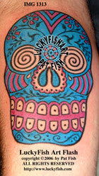 Calavera Skull Mexican Tattoo Design 1
