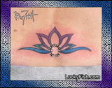Rainbow Lotus Tattoo Design 3